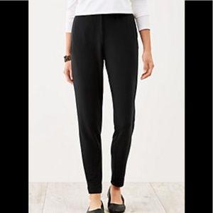 J Jill Mp Black Ponte Knit Slim Leg Pull On Pants